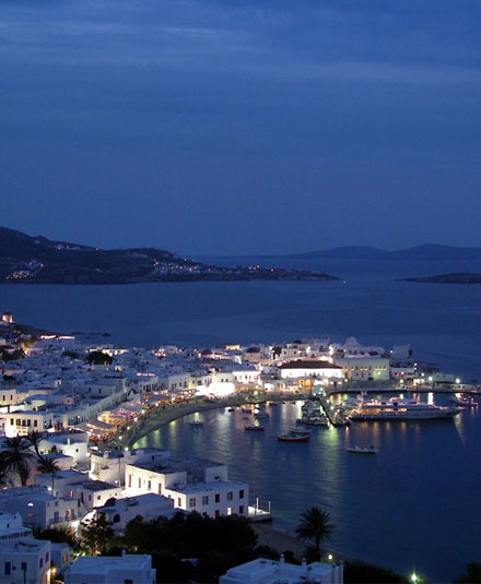 I.	Mykonos Island.  The spirit of holidays.